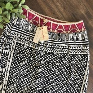 Anthropologie Cecilia Prado Knit Patterned Skirt